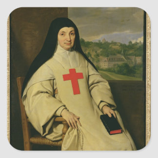 Mother Angelique Arnauld  Abbess Square Sticker