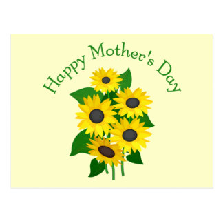Mother's Day Sunflowers Postcard