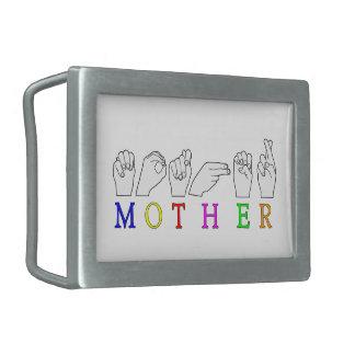 MOTHER    ASL FINGER SPELLED BELT BUCKLES