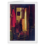 Mother At The Birth Of Detail By Pieter De Hooch Greeting Card