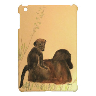 Mother & Baby Baboons - Wildlife Monkeys Primates iPad Mini Cover