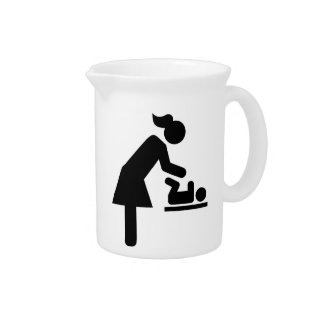Mother baby diaper beverage pitchers