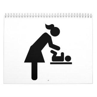 Mother baby diaper wall calendar