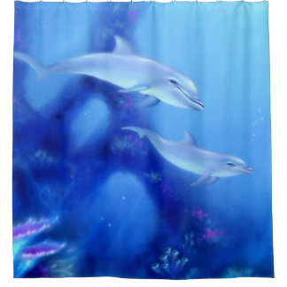 Exceptional Mother U0026amp; Baby Dolphins Shower Curtain