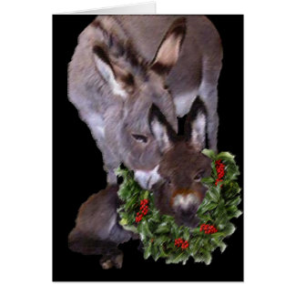 MOTHER & BABY DONKEY GREETING CARD