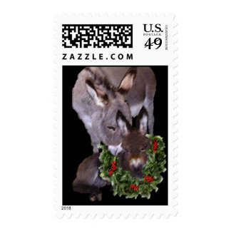 MOTHER & BABY DONKEY POSTAGE STAMP