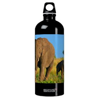 Mother & Baby Elephant Aluminum Water Bottle