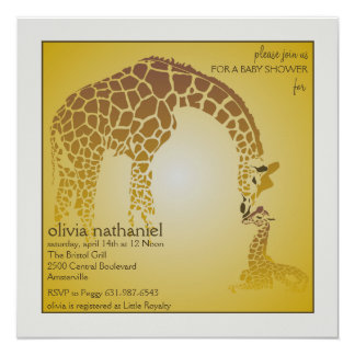 High Quality Mother Baby Giraffe   Baby Shower Invitation