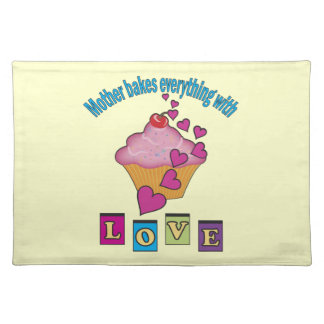 Mother Bakes with Love Cloth Placemat