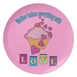 Mother Bakes with Love Dinner Plate