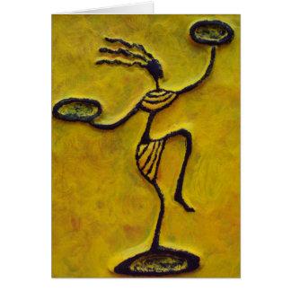 Mother Balancing Act_Black African Art Cards Women