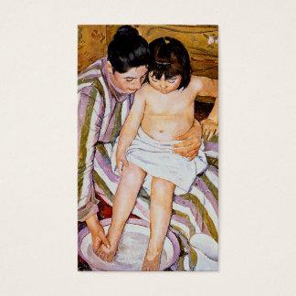 Mother bathing child bath art by Mary Cassatt Business Card