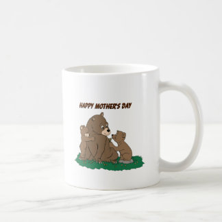 Mother Bear and Cubs Coffee Mugs