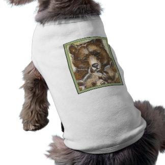 Mother Bear and Cubs Dog Tee Shirt
