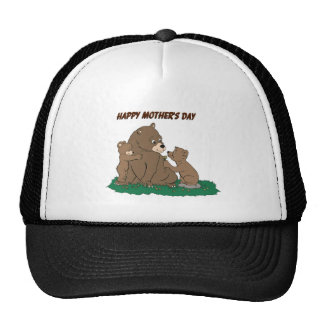Mother Bear and Cubs Trucker Hat