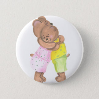 Mother Bear and Her Cub Hug Button