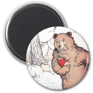 Mother Bear Carrying Prairie Dog Magnet