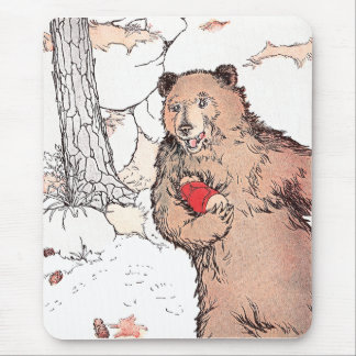 Mother Bear Carrying Prairie Dog Mouse Pad