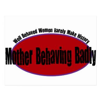 Mother Behaving Badly Shirt Postcard