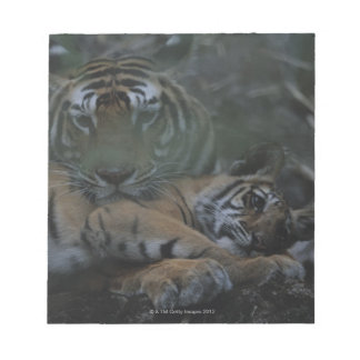 Mother Bengal Tiger with Cub Notepad