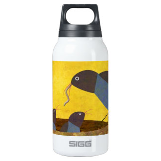 Mother Bird and Babies Insulated Water Bottle