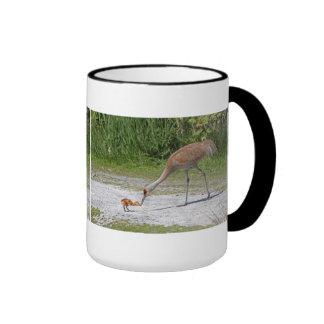Mother Bird and Baby Bird Sandhill Cranes Mug