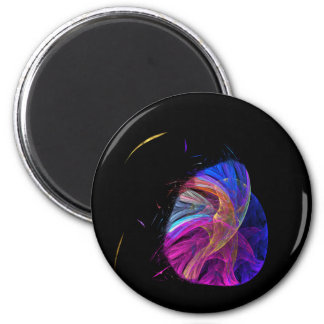 Mother Bird and Her Egg Fractal 2 Inch Round Magnet