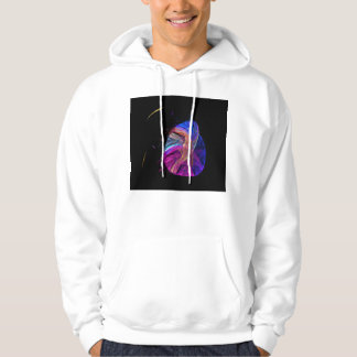 Mother Bird and Her Egg Fractal Hoodie