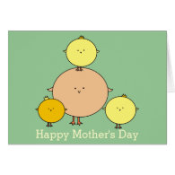 Mother Bird Happy Mother's Day Greeting Card