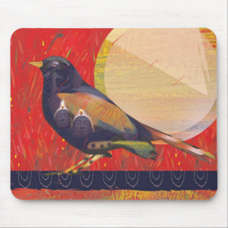 Mother bird mouse pad