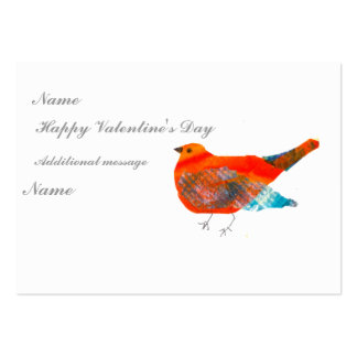 Mother Bird Valentine's ACEO card Large Business Card
