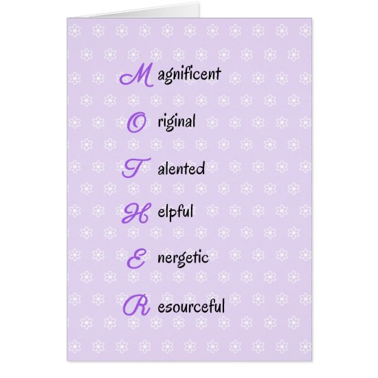 Mother birthday text flowers purple card