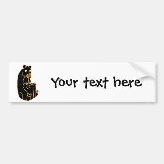Mother Black Bear with Cubs Bumper Sticker