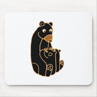 Mother Black Bear with Cubs Mouse Pad