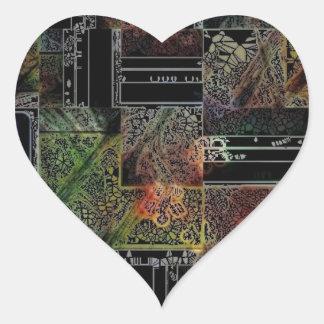 Mother Board Heart Sticker