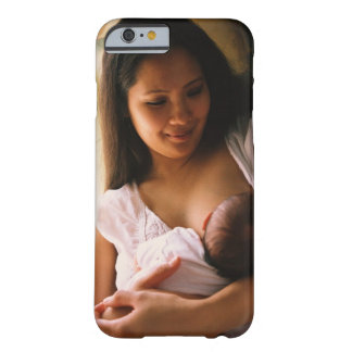 Mother breast feeding newborn barely there iPhone 6 case