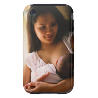 Mother breast feeding newborn iPhone 3 tough covers