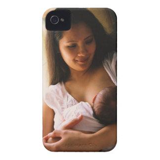 Mother breast feeding newborn iPhone 4 case