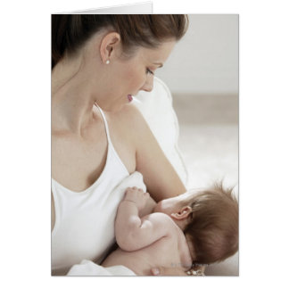 Mother breastfeeding baby 2 card