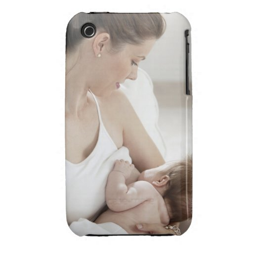 Mother breastfeeding baby 2 iPhone 3 Case-Mate cases
