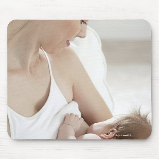 Mother breastfeeding baby 2 mousepads