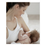 Mother breastfeeding baby 2 poster