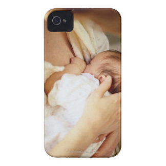 Mother breastfeeding baby girl (1-3 months) iPhone 4 Case-Mate case