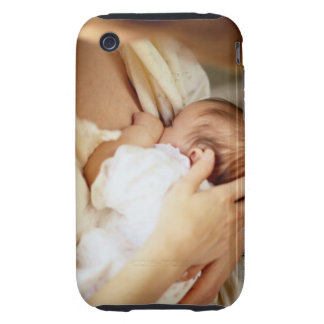 Mother breastfeeding baby girl (1-3 months) iPhone 3 tough covers