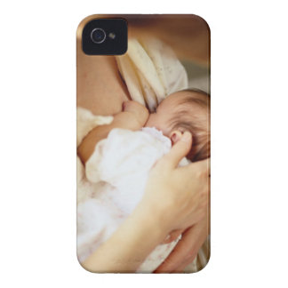 Mother breastfeeding baby girl (1-3 months) iPhone 4 Case-Mate cases
