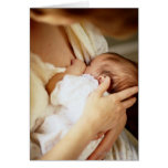 Mother breastfeeding baby girl (1-3 months) greeting card