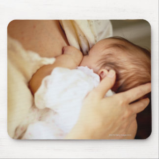 Mother breastfeeding baby girl (1-3 months) mouse pad