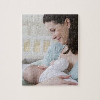 Mother breastfeeding baby jigsaw puzzle