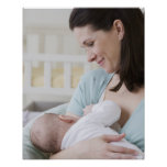Mother breastfeeding baby poster