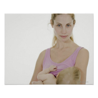 Mother breastfeeding her baby. 2 poster